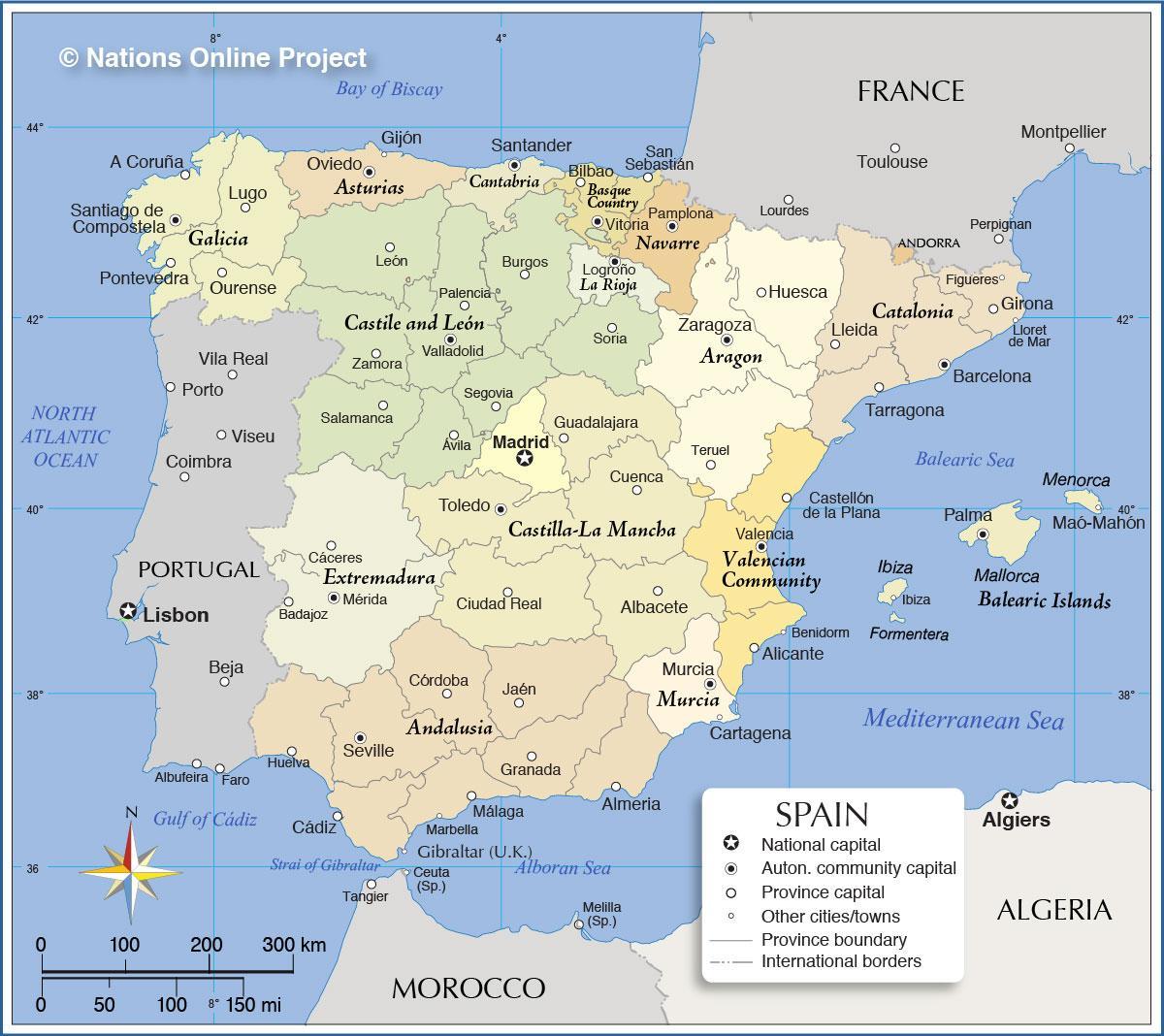 regioner i spanien